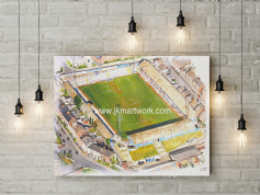saltergate aerial  canvas a3 size